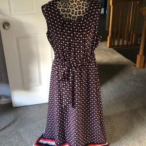 Apt. 9 Dresses - Apt. 9 long sleeveless dress with belt at waist